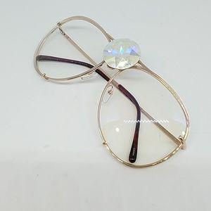 GASOLINE GLAMOUR Accessories - Westray opal Swarovski clear AVIATORS new